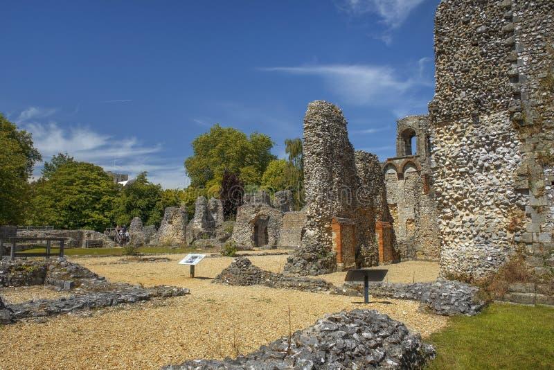 Wolvesey城堡,温彻斯特,英国废墟  库存图片