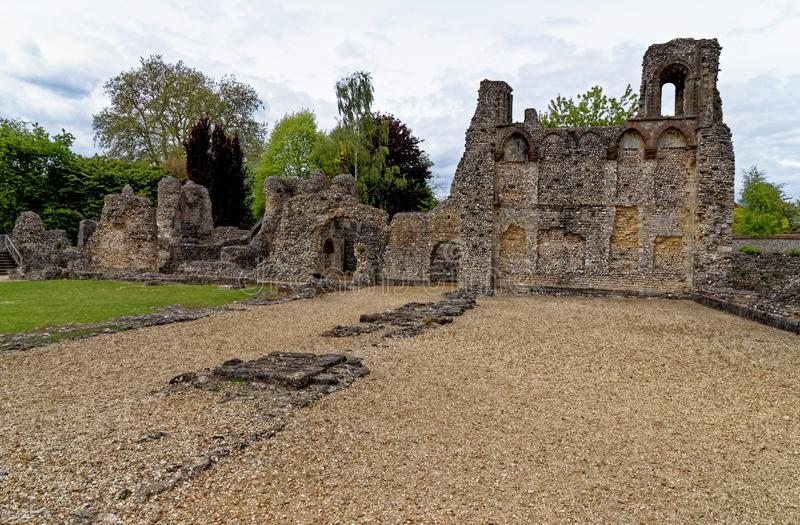 Wolvesey Castle - Old Bishop's Palace - Winchester City stock foto