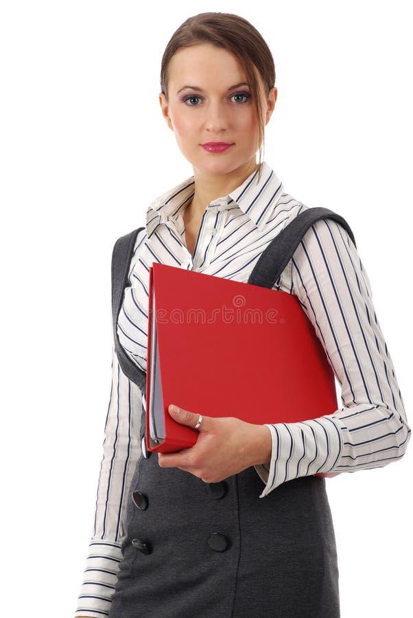 Woma feliz do negócio dos jovens businesswoman.attractive fotos de stock