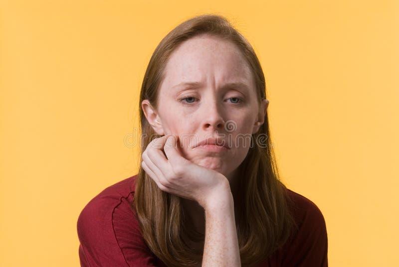Woman-03 deprimido foto de stock