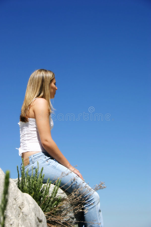Download Woman stock photo. Image of woman, sitting, peaceful, girls - 8520