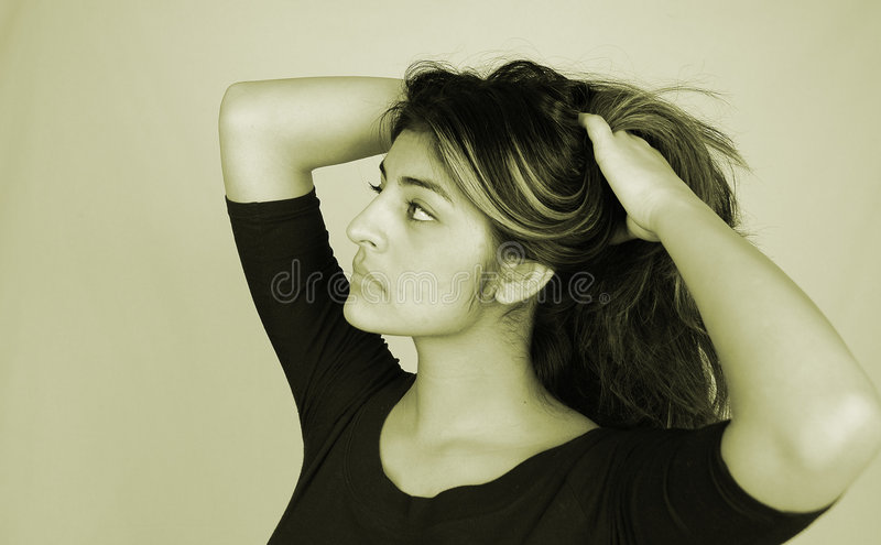 Woman-10 ocasional imagem de stock