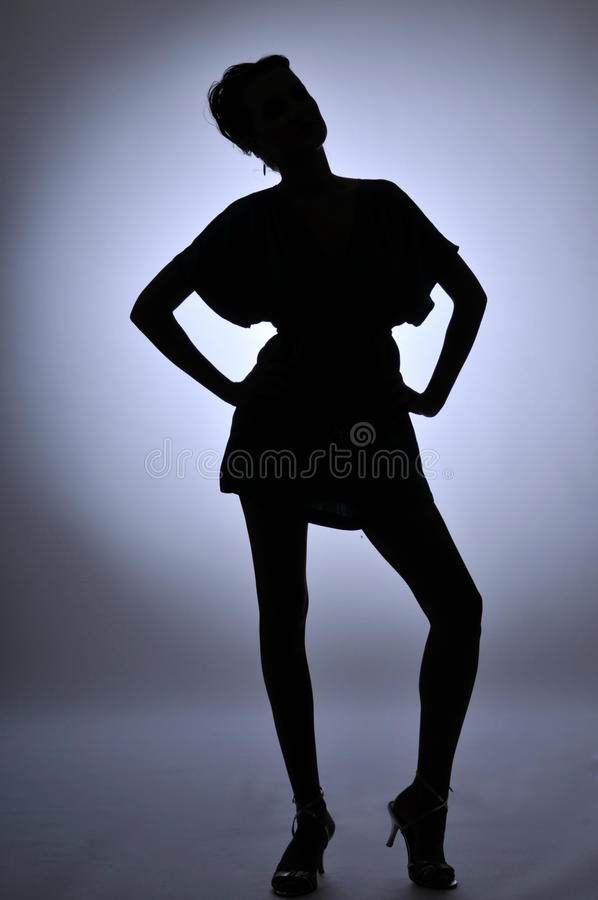 Download The woman stock photo. Image of formal, girl, black, silhouette - 15498116