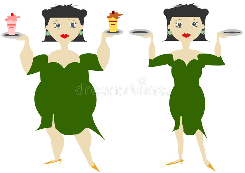 Download Woman stock illustration. Image of lose, anorexic, food - 17951191