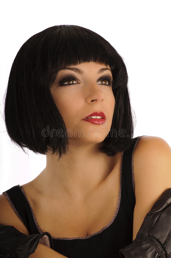 Download Woman With 1920s Hair And Makeup Stock Image - Image: 20925889
