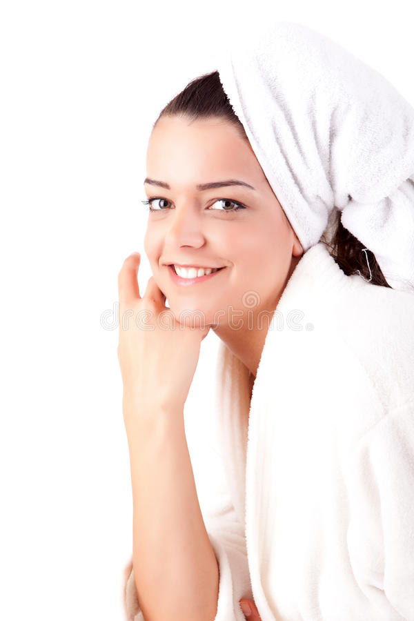 Woman. Beautiful young woman with a clean skin stock images