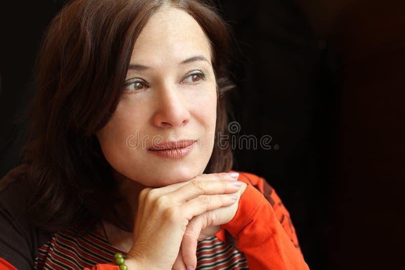 Woman 40s - mature beauty royalty free stock photo
