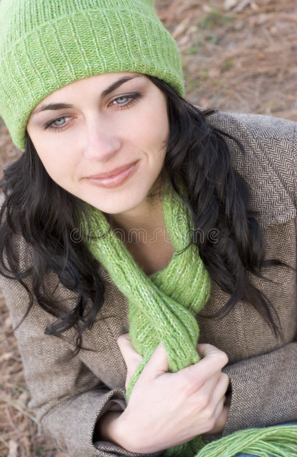 Download Woman stock image. Image of cold, autumn, teens, beanie - 466669