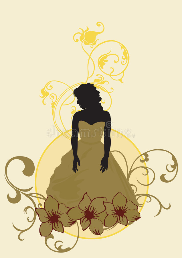 Download Woman stock vector. Illustration of fashion, pattern, fancy - 4978725
