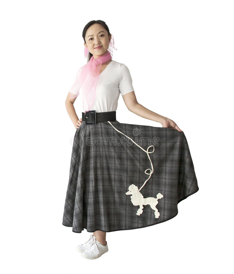 Woman In 50 S Clothing Stock Images