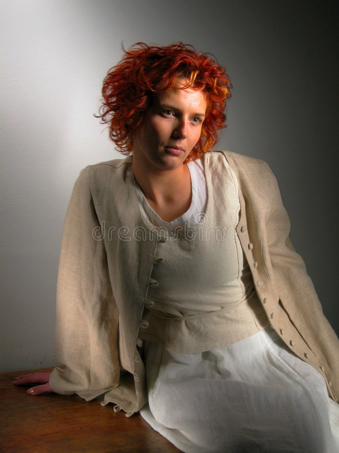Free Woman A Dark Background Stock Photos - 89713
