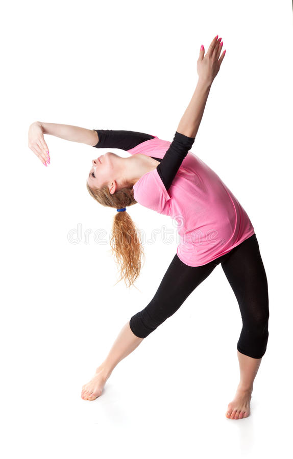 Woman Is An Acrobat Stock Image