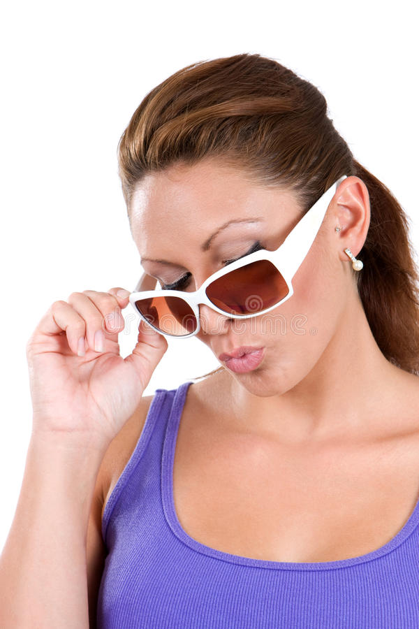 Woman Acting Cool royalty free stock photography