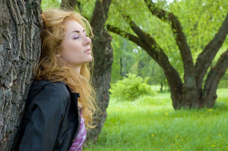 Download Woman admiring nature stock image. Image of redheaded - 19626355