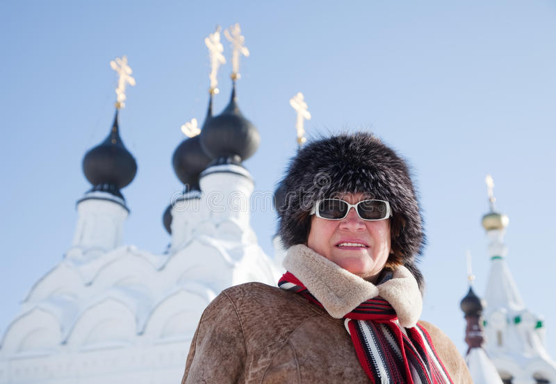 Download Woman  Against Orthodoxy Domes Stock Photography - Image: 18453102