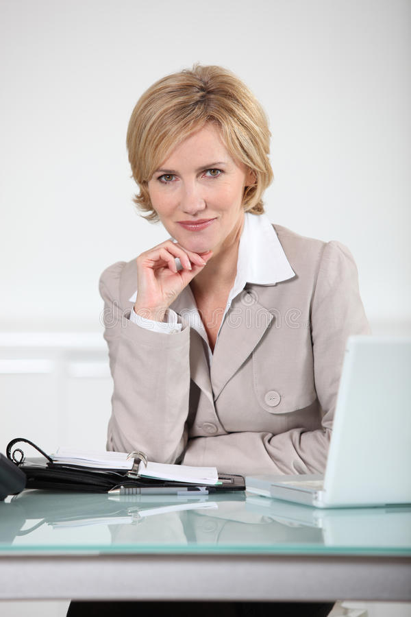 Woman with an agenda stock photo