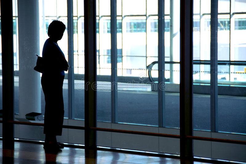 Woman airport royalty free stock image