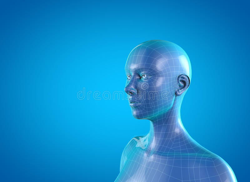 Woman anatomy neck pain stock illustration. Illustration of migraine ...