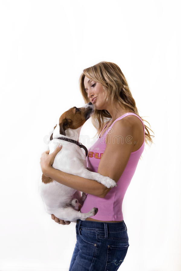 Free Woman And Her Dog Royalty Free Stock Photo - 11371685