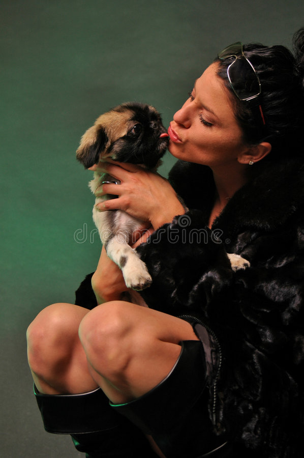 Free Woman And Her Pet Stock Images - 1927944