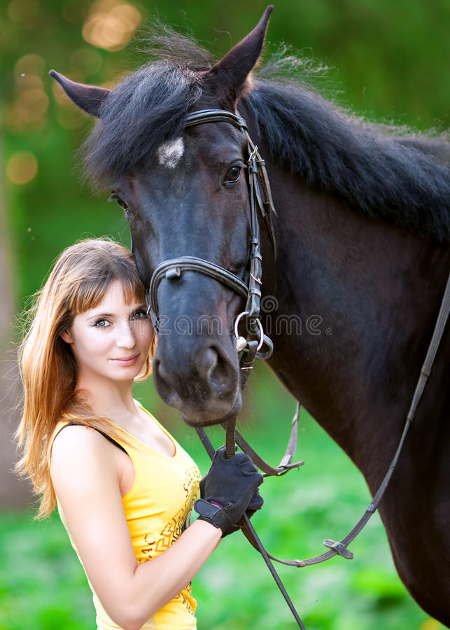 Free Woman And Horse Stock Photo - 17524180