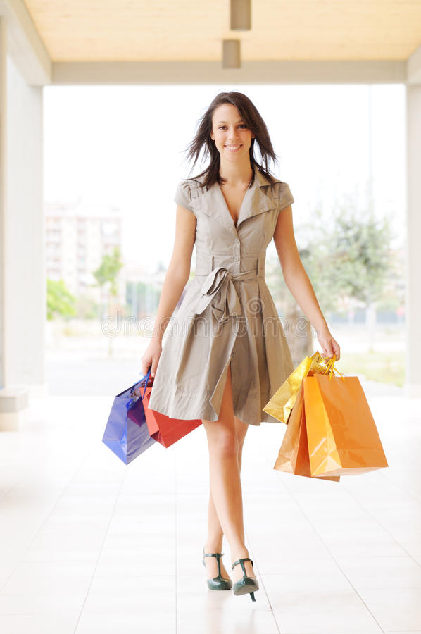 Free Woman And Shopping Stock Images - 9926244