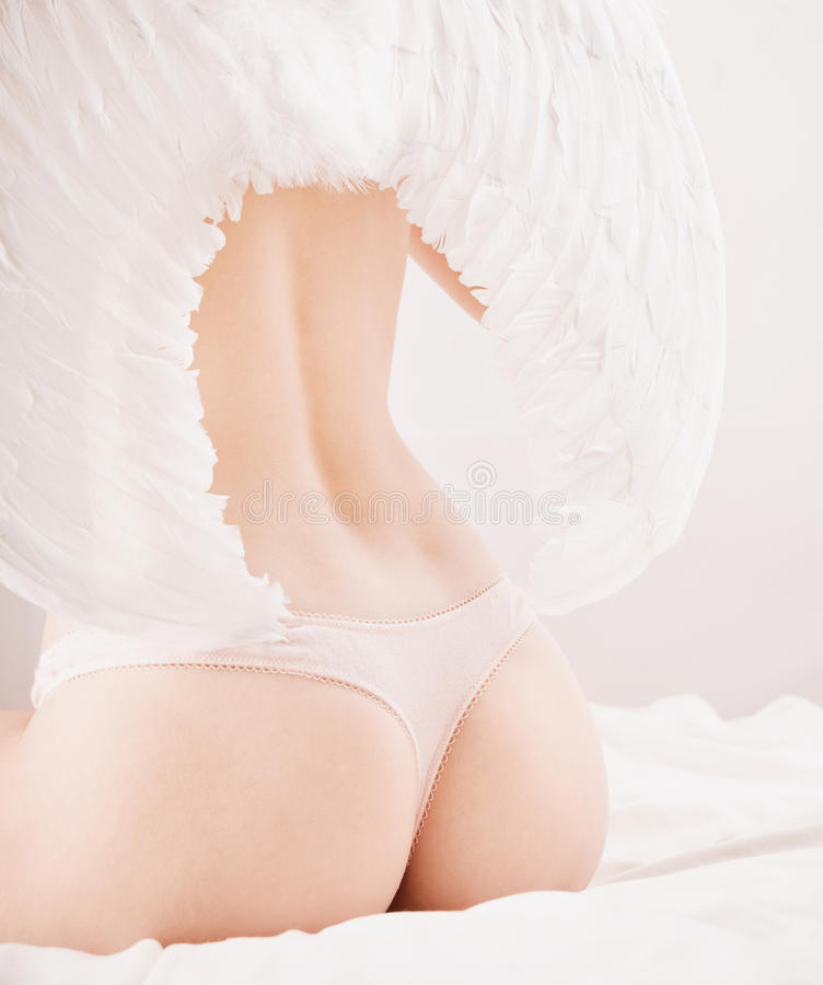 Download Woman in angel wings stock image. Image of sexual, wings - 12563983
