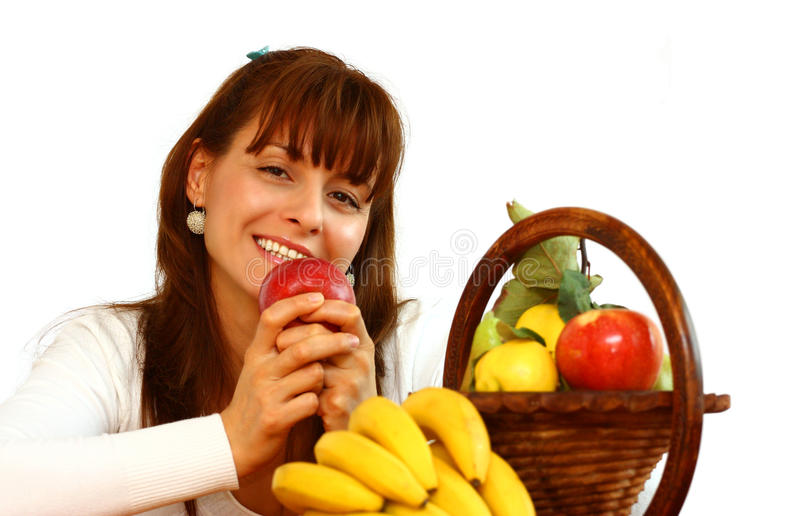 Download Woman with apple stock photo. Image of health, girl, food - 21902774