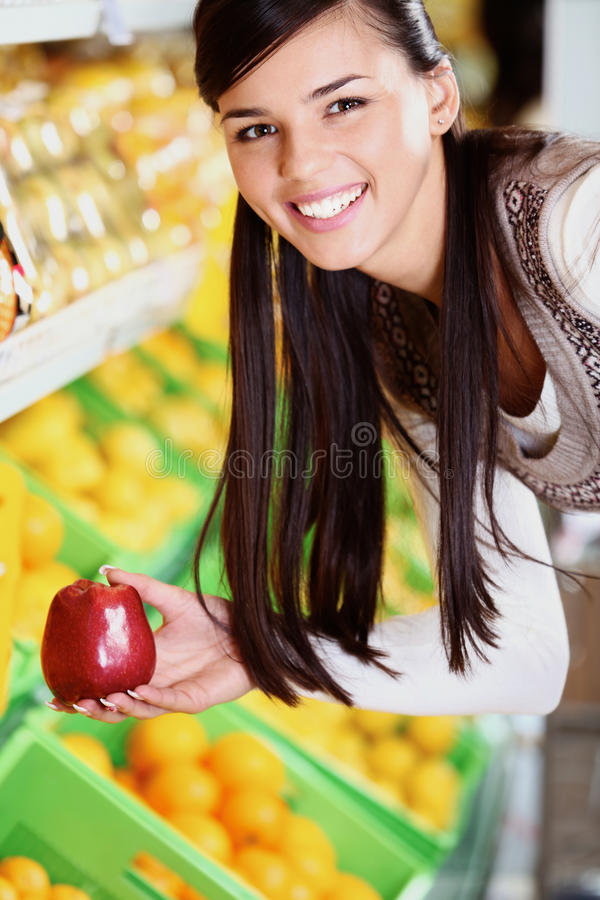 Download Woman with apple stock image. Image of nutrition, human - 24739099