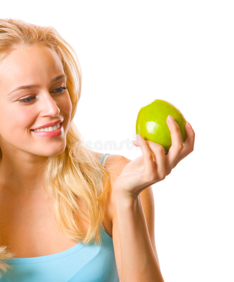 Download Woman With Apple Stock Photography - Image: 3706442