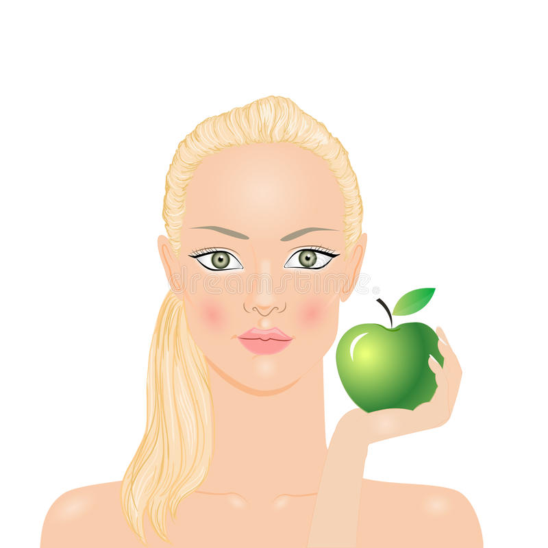 Download Woman With Apple Royalty Free Stock Photo - Image: 32093295