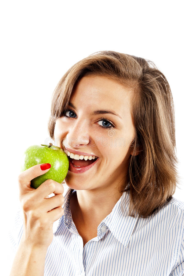 Download Woman with apples stock photo. Image of cute, attractive - 22471186