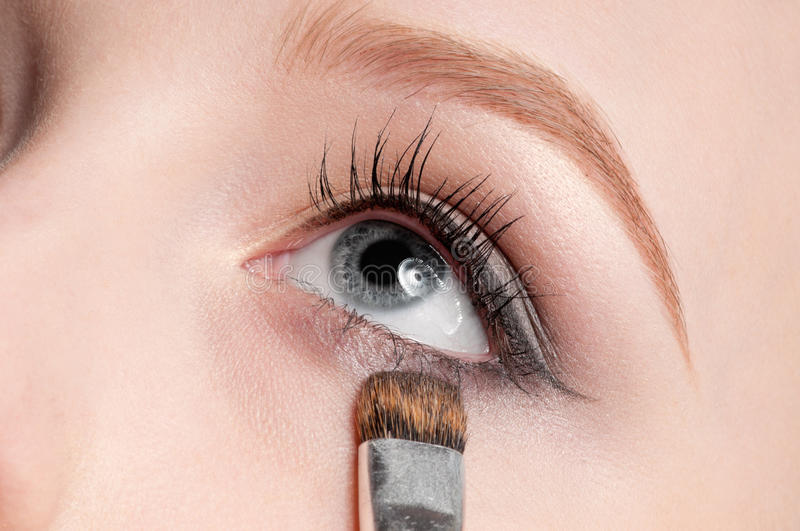 Download Woman Applying Cosmetic Brush Stock Image - Image: 19267025