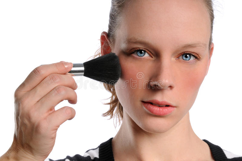 Download Woman Applying Make Up stock photo. Image of head, glamour - 11158682