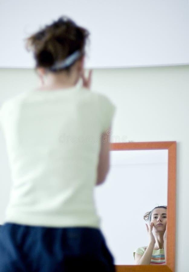 Download Woman applying make up stock image. Image of interior - 4900437