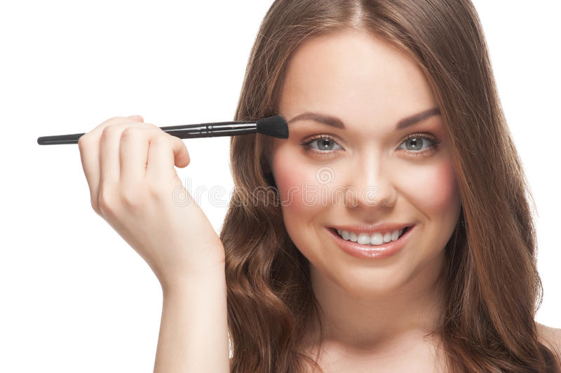 Download Woman applying makeup stock image. Image of lady, cosmetic - 23397191