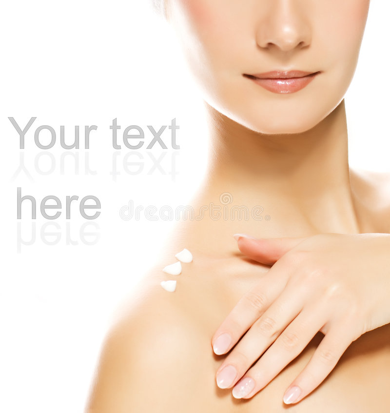 Free Woman Applying Moisturizer Royalty Free Stock Photography - 5244987