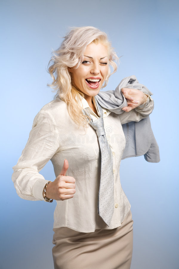 Download Woman with approve sign stock photo. Image of smile, woman - 9221034