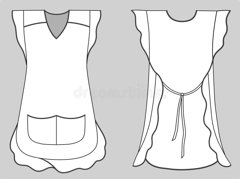 Download Woman Apron With Frills And Pockets Stock Vector - Image: 16052860