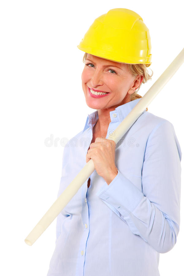Download Woman architect stock photo. Image of occupation, person - 20006930