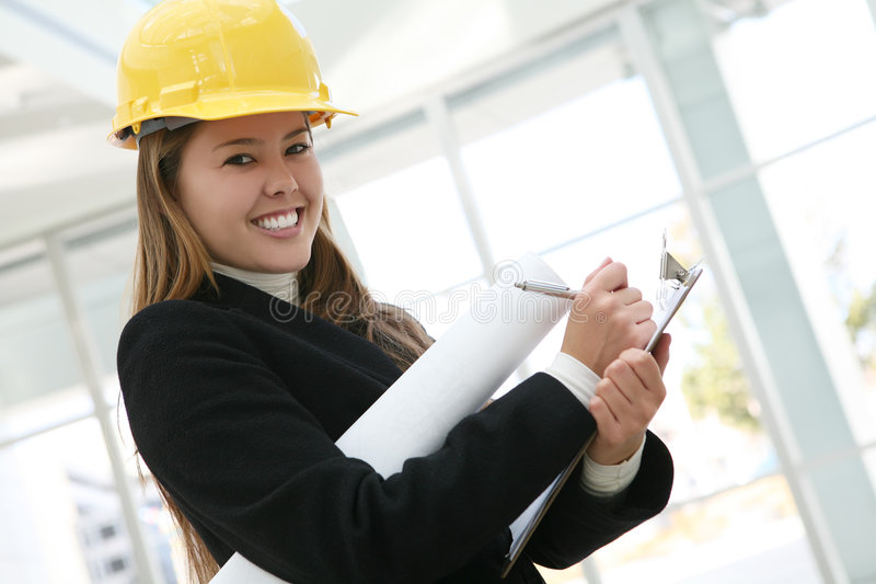 Woman Architect royalty free stock image