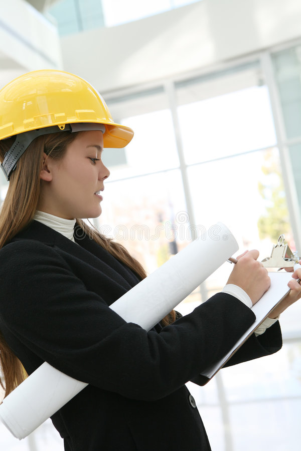 Woman Architect royalty free stock images
