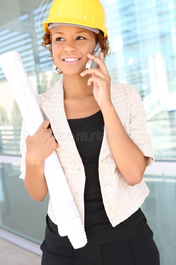 Woman Architect On Construction Site Royalty Free Stock Photo