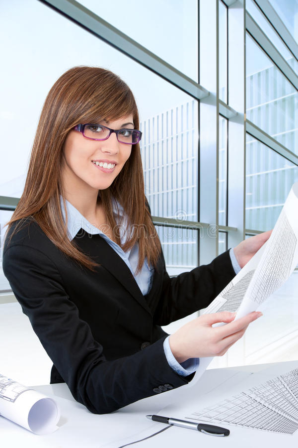 Download Woman Architect At Desk In Office. Stock Image - Image: 26593537