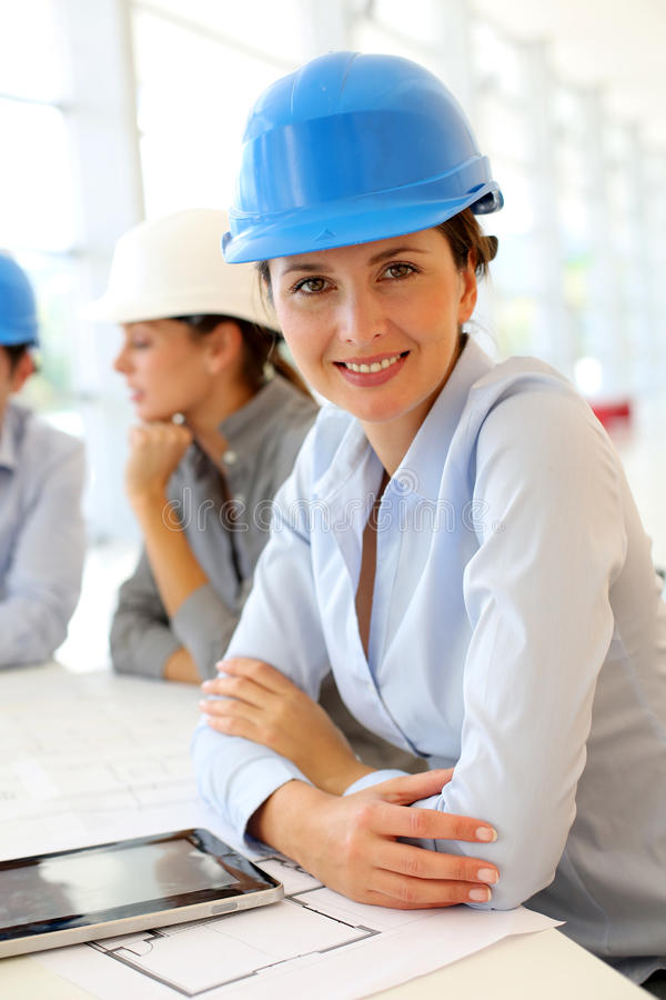 Download Woman architect in office stock photo. Image of businesswoman - 27181256