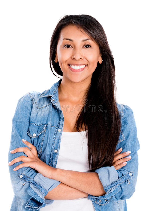 Download Woman with arms crossed stock photo. Image of hispanic - 33259464