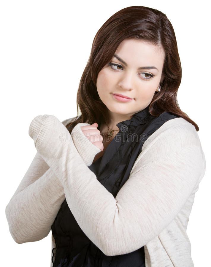 Woman Crossing Arms Stock Image
