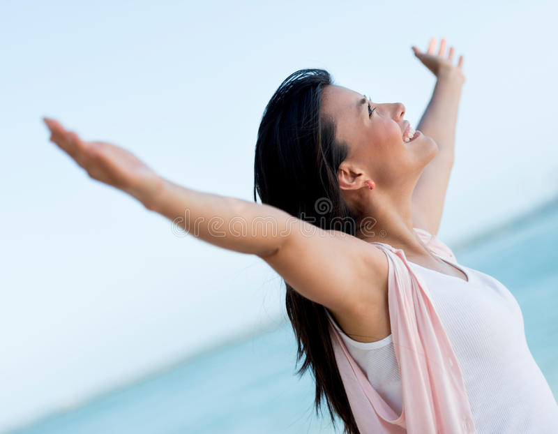 Download Woman with arms open stock image. Image of gorgeous, arms - 30555829