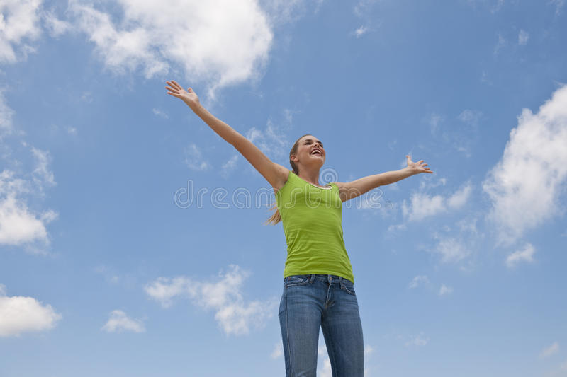 Download Woman With Arms Outstretched Stock Photo - Image: 10547122