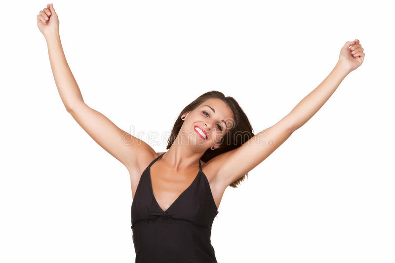 Download Woman With Arms Outstretched Stock Photo - Image: 32815092
